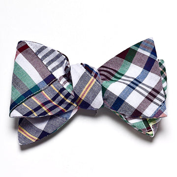 Patchwork Madras Bow Tie- Chatham - Just Madras