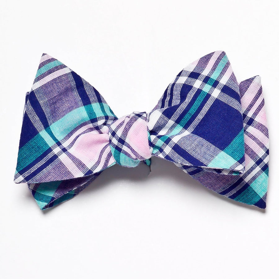 Madras Bow Tie- Naragansett - Just Madras