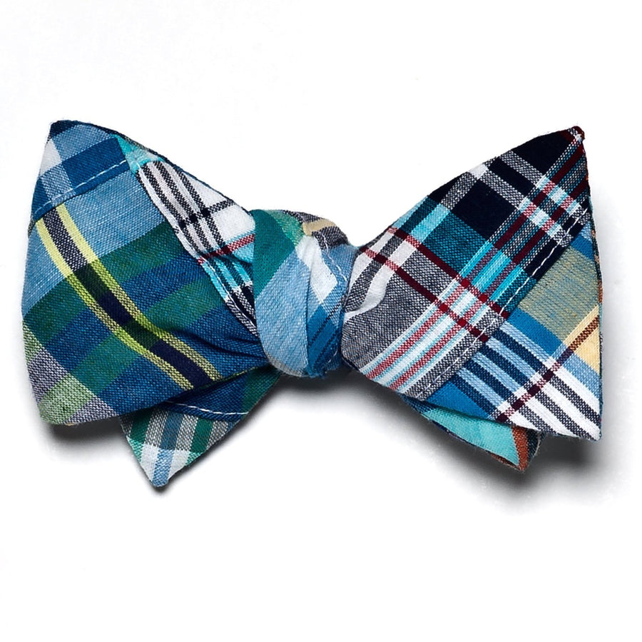Patchwork Madras Bow Tie- Bethany - Just Madras