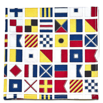 Signal Flag Pocket Square - Just Madras