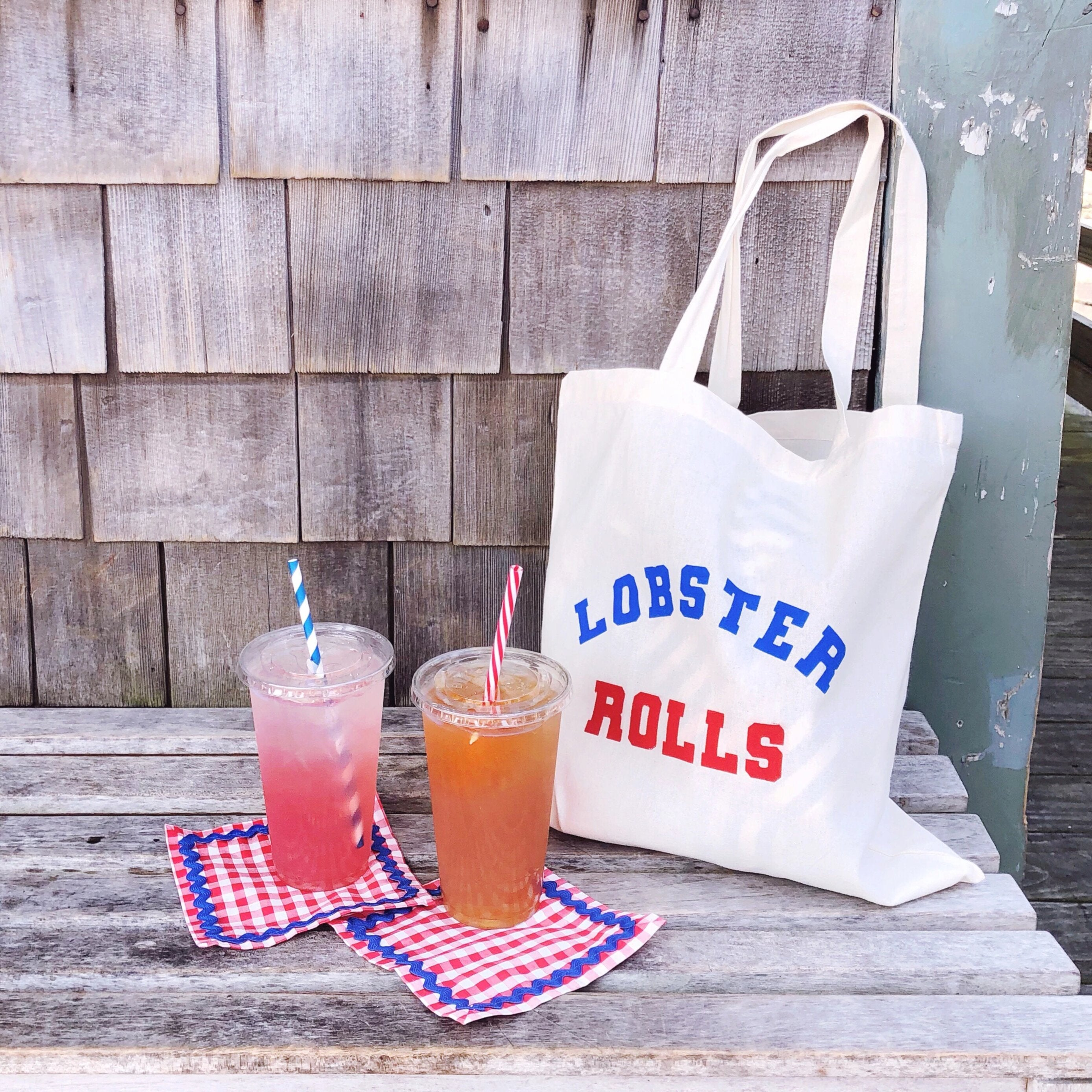 Reusable Shopping Tote- Lobster Rolls - Just Madras