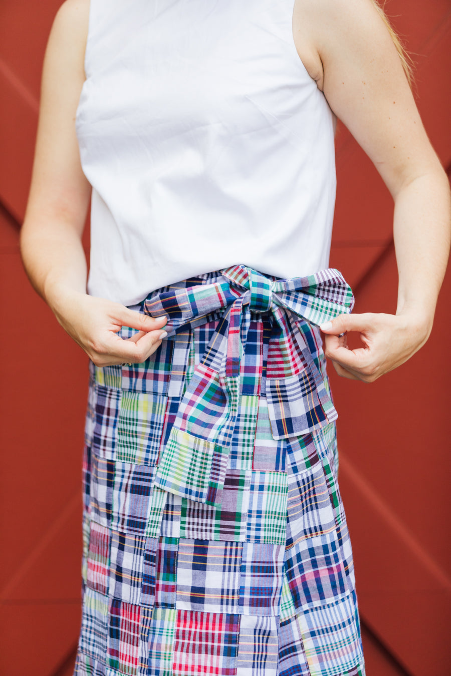 Madras Wrap Skirt- Chatham - Just Madras