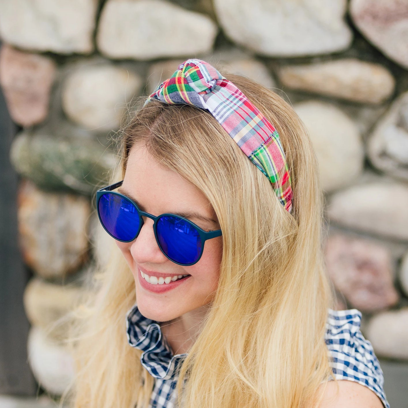 Knot Headband- Menemsha Madras - Just Madras