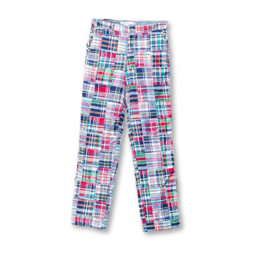 Classic Patchwork Madras Pants- Menemsha - Just Madras