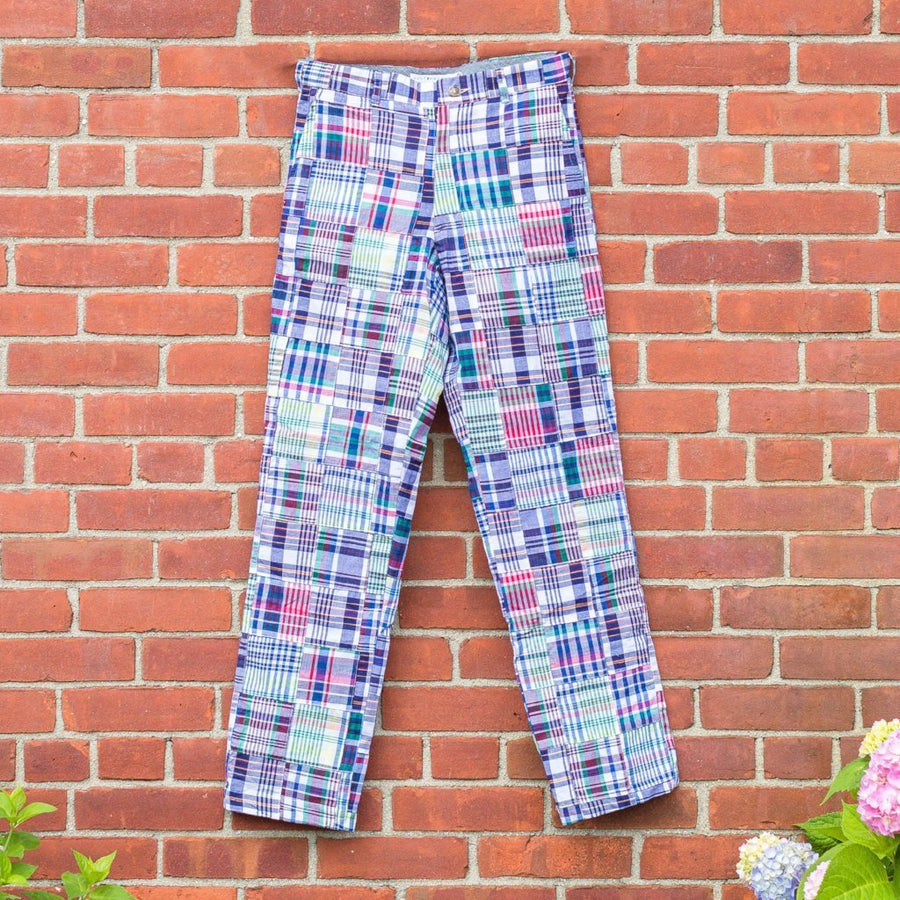 Classic Patchwork Madras Pants- Chatham - Just Madras