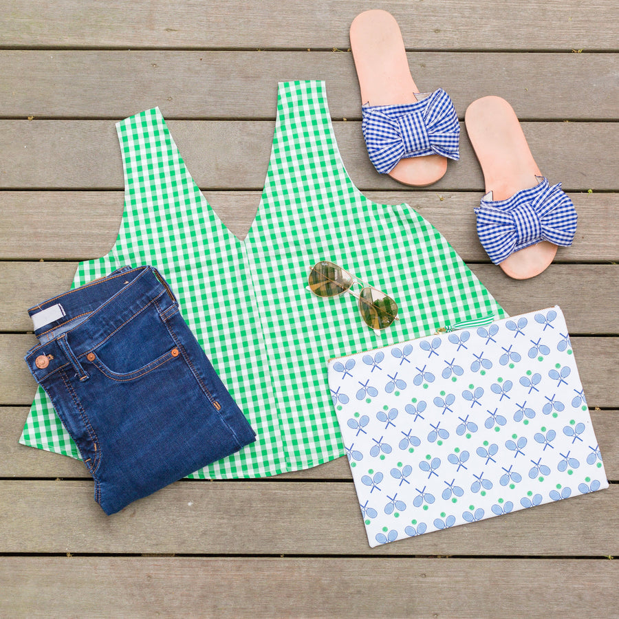 Christine (Swing) Top- Green Gingham