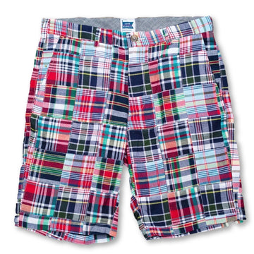 Patchwork Madras Shorts - Menemsha - Just Madras