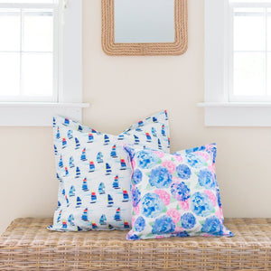 "Hydrangea Pillow Cover- 24""x24"" - Just Madras"