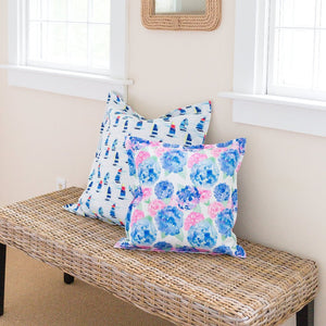 "Hydrangea Pillow Cover- 18""x18"" - Just Madras"