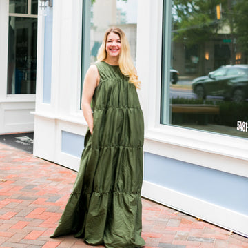 Blake Dress- Army Green
