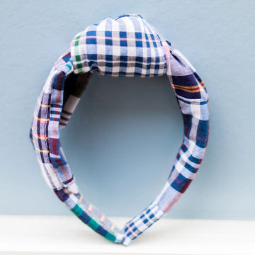 Knot Headband- Chatham Madras - Just Madras
