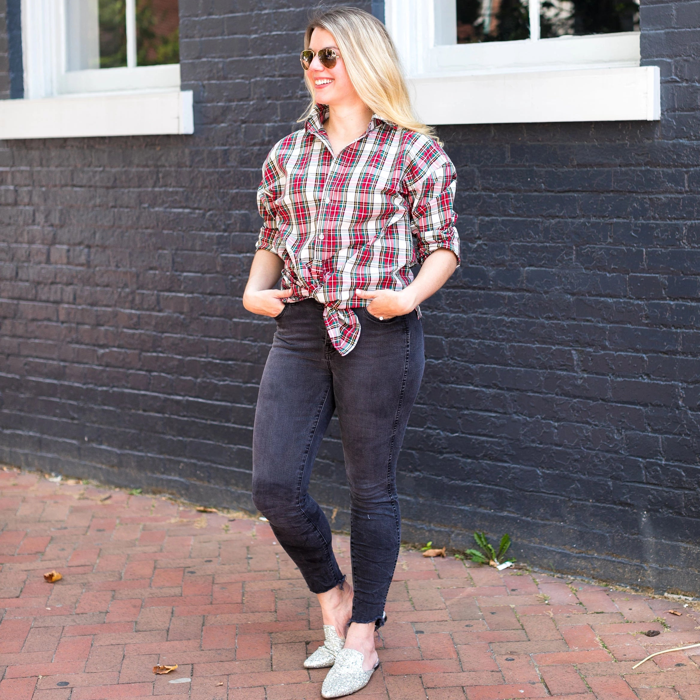 Signature Boyfriend Shirt- Stewart Tartan - Just Madras