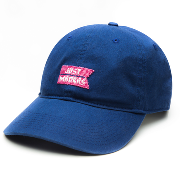 Needlepoint Logo Hat- Navy - Just Madras