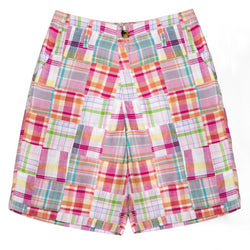 Patchwork Madras Shorts- Tucker's Point