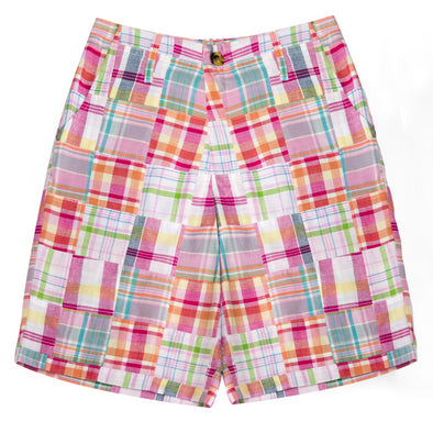 Patchwork Madras Shorts- Tucker's Point - Just Madras
