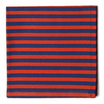 Striped Pocket Square- Navy/Red - Just Madras