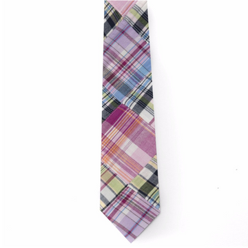 Patchwork Madras Tie- Ocean City - Just Madras