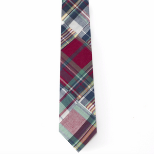 Patchwork Madras Tie- Block Island - Just Madras