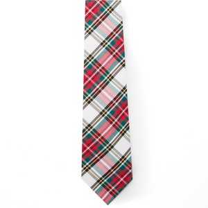 Typewriter Cloth Tie- Stewart Tartan - Just Madras