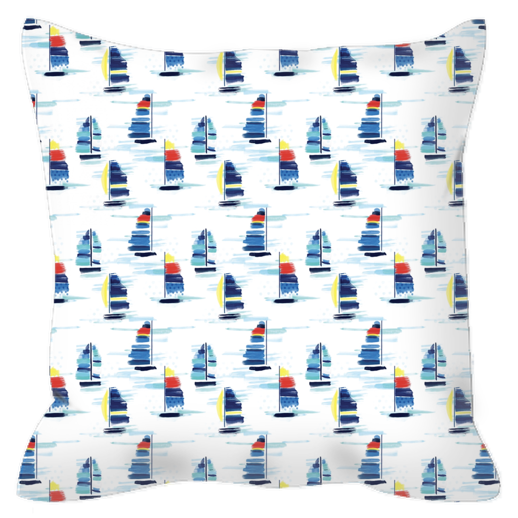 Outdoor Pillows- Sailboat (3 Sizes Available) - Just Madras