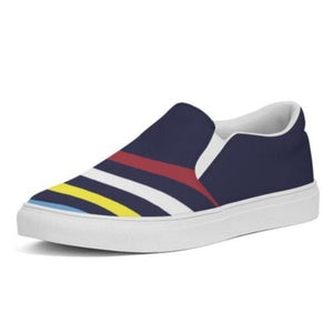 Slip-On Canvas Shoe- Nautical Stripes - Just Madras