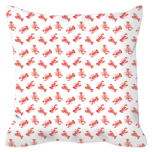 Open image in slideshow, Outdoor Pillows- Lobsters - Just Madras