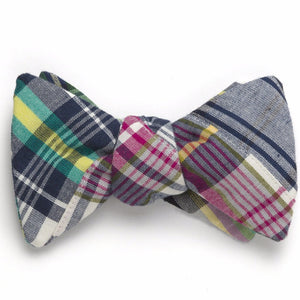 Patchwork Madras Bow Tie- Tod's Point - Just Madras