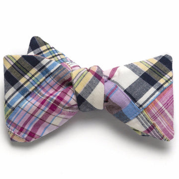 Patchwork Madras Bow Tie- Ocean City - Just Madras