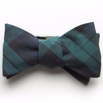 Typewriter Cloth Bow Tie- Black Watch Tartan - Just Madras