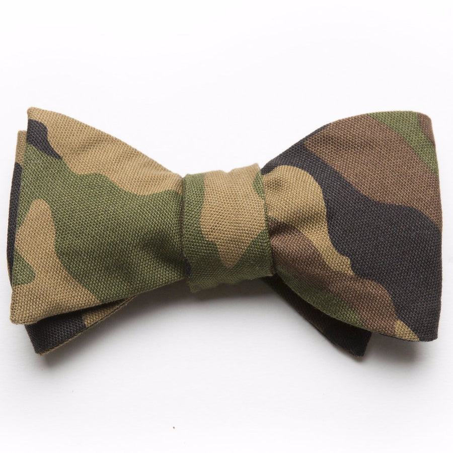 Printed Oxford Bow Tie- Camo - Just Madras