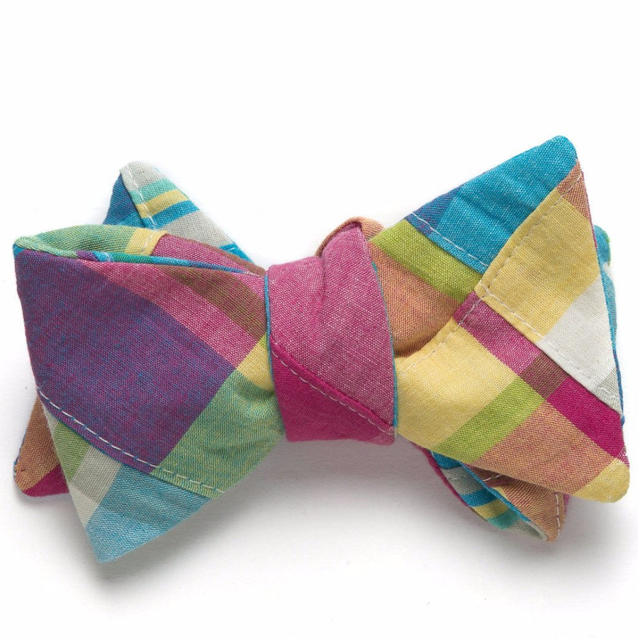 Patchwork Madras Bow Tie- Mystic - Just Madras
