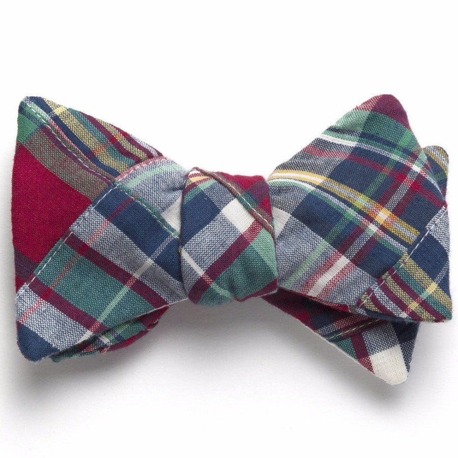 Patchwork Madras Bow Tie- Block Island - Just Madras