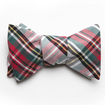 Typewriter Cloth Bow Tie- Stewart Tartan - Just Madras