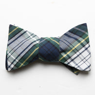 Flamingo Seersucker Bow Tie- Lime Green