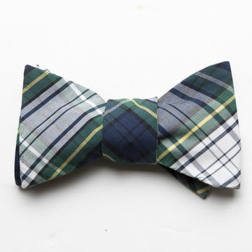 Typewriter Cloth Bow Tie- Campbell Tartan - Just Madras