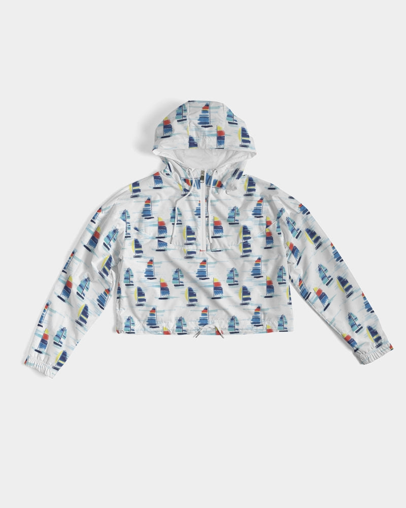 Cropped Windbreaker- Sailboat - Just Madras