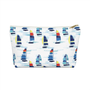 Accessory Pouch- Sailboat Print - Just Madras
