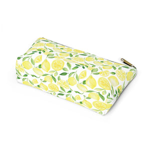 Accessory Pouch- Lemon Print - Just Madras