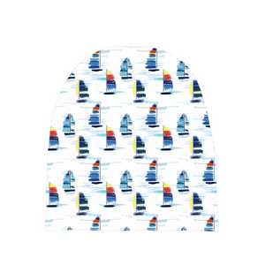 Baby Beanies- Sailboat print - Just Madras
