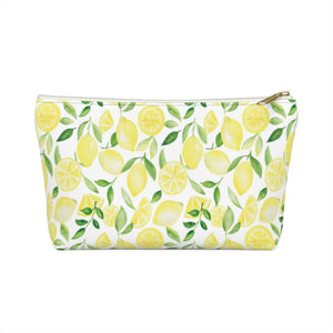 Open image in slideshow, Accessory Pouch- Lemon Print - Just Madras