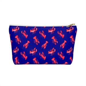 Open image in slideshow, Accessory Pouch- Navy Lobster - Just Madras