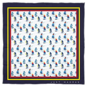 Silk Scarf- Sailboat - Just Madras
