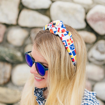 Knot Headband- Signal Flags - Just Madras