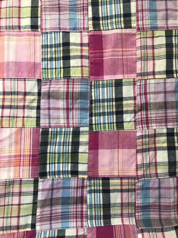 AUTHENTIC Patchwork Madras Fabric- Ocean City - Just Madras