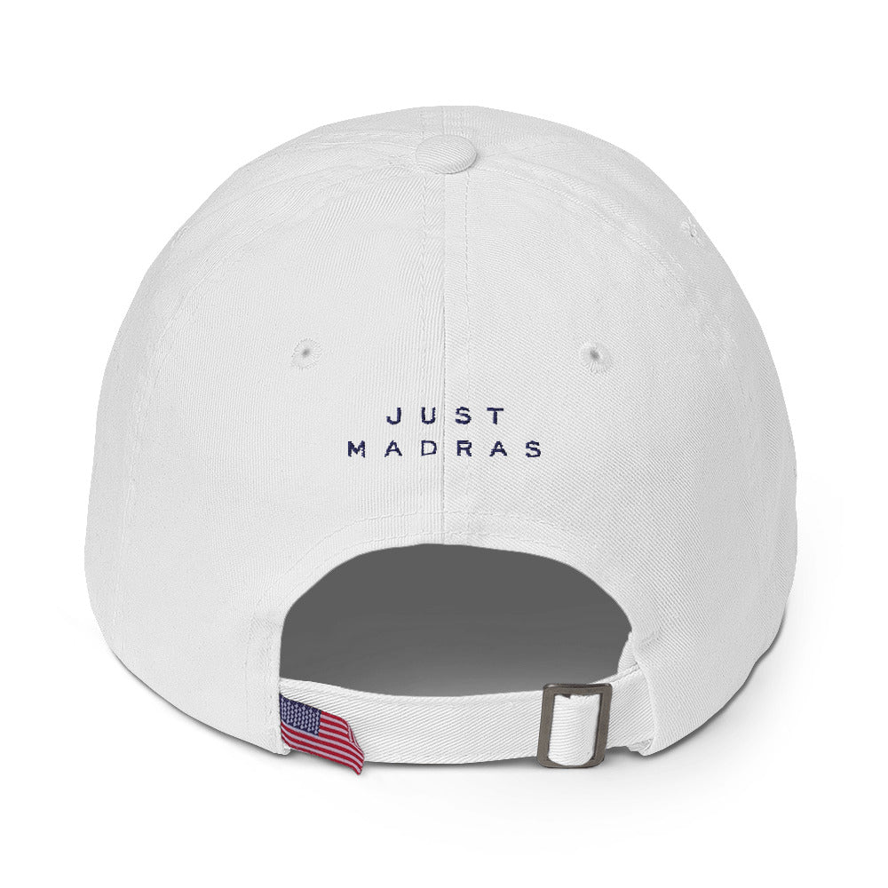 JM Signature Baseball Cap- White - Just Madras