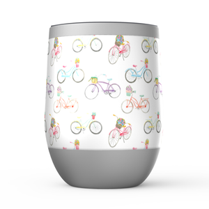 Stemless Wine Tumblers- Beach Cruisers - Just Madras