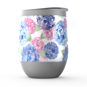 Open image in slideshow, Stemless Wine Tumblers- Hydrangea - Just Madras