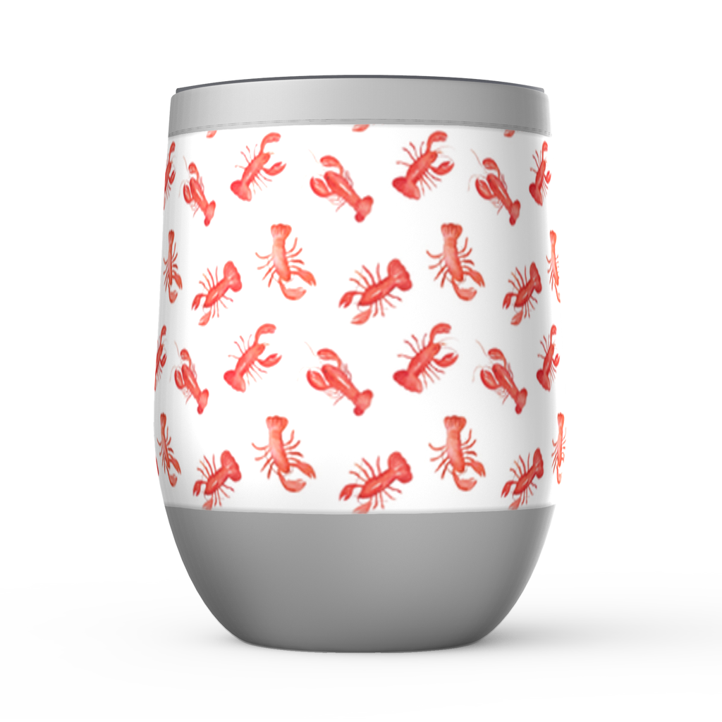 Stemless Wine Tumblers- Lobsters - Just Madras