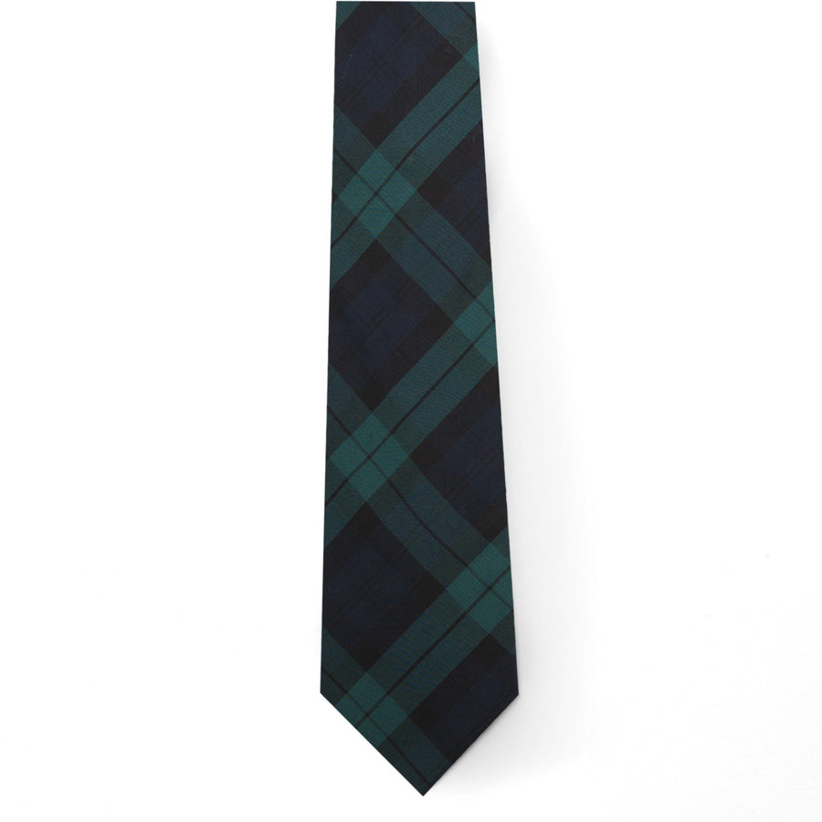Typewriter Cloth Tie- Black Watch Tartan - Just Madras