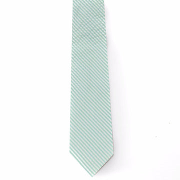 Seersucker Tie- Sea Foam - Just Madras